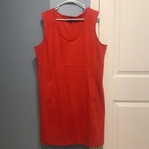 Gap sleeveless dress - burnt orange